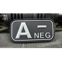 Buy cheap PVC Velcro Patch Blood Type Patch with velcro A NEG product
