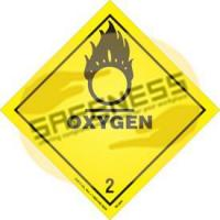 Buy cheap DOT Oxygen Shipping Labels product
