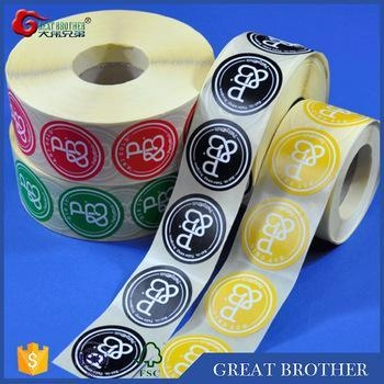 Quality Rolls of labels and stickers for custom printing,round shape stickers for sale
