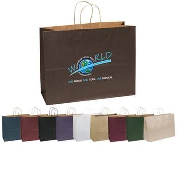"Quality Full Color Imprint Matte Finish Promotional Shopping Bag - 16""w x 12""h x 6""d for sale"