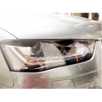 Real Carbon Fiber Head Light Covers Eyelids Eyebrows For Audi A4 B9 2013UP