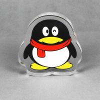 China Laser Cutting Penguin Shaped Printed Transparent Acrylic Trophy Blanks Plates on sale