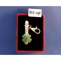 Buy cheap Key chain Cloisonne four-leaf clover keyring clip product