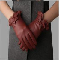 Buy cheap Hot Sales Warm and Soft Lace Edge Small Butterfly Women Leather Winter Gloves product