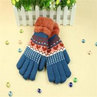 Buy cheap Fine Quality Fast Delivery Jacquard Heart-shaped Women Fashion Acrylic Knit Glove product