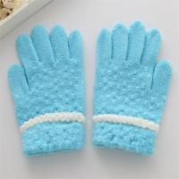 Buy cheap 100% Acrylic Wholesale Cheap and Soft Pinkycolor Women Acrylic Knit Gloves product