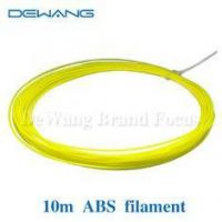 Buy cheap Yellow ABS 3D Printer Filament 1.75mm Plastic Rubber Consumables Material 10M product