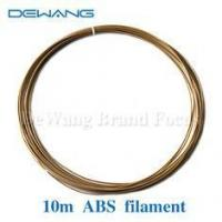 Buy cheap Gold 10m 1.75mm abs plastic filament For 3D Printer MakerBot product