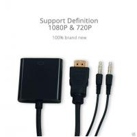 Buy cheap A Type 19PIN HDMI Male to VGA Female Adapter Cable with 3.5mm Audio 1meter Audio Cable product