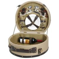 Buy cheap Picnic & Beyond Wooden Picnic Basket for 2 product