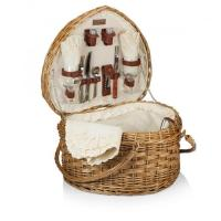 Buy cheap Picnic Time Woven Heart Picnic Basket for 2 product