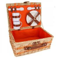 Buy cheap Picnic and Beyond Willow Picnic Basket for Two, Orange product