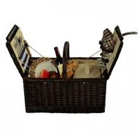 Buy cheap Picnic at Ascot Surrey Willow Picnic Basket with Service for 2 - London Plaid product
