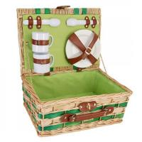 Buy cheap Picnic and Beyond Willow Picnic Basket for Two, Honey & Green product