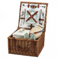 Buy cheap Picnic at Ascot Cheshire English-Style Willow Picnic Basket with Service for 2 - Gazebo product