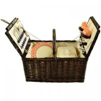 Buy cheap Picnic at Ascot Surrey Willow Picnic Basket with Service for 2 - Diamond Orange, 713-DO product