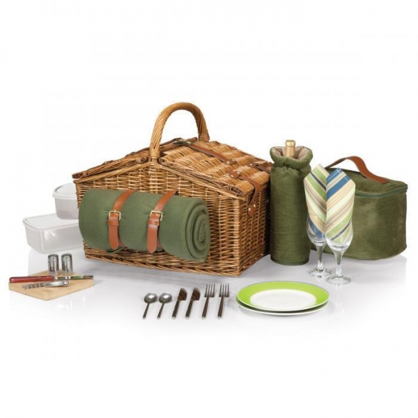 Quality Picnic Time Somerset Willow Basket for Two for sale