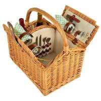 Buy cheap Picnic at Ascot Vineyard Willow Picnic Basket with Service for 2 - Gazebo product