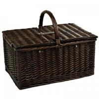 Buy cheap Picnic at Ascot Surrey Willow Picnic Basket with Service for 2 & Coffee Set - Diamond Orange product