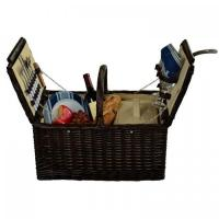 Buy cheap Picnic at Ascot Surrey Willow Picnic Basket with Service for 2 - Blue Stripe product