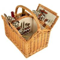 Buy cheap Picnic at Ascot Vineyard Willow Picnic Basket with service for 2 - London Plaid product