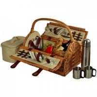 Buy cheap Picnic at Ascot Sussex Picnic Basket for 2 w/Coffee, Wicker Santa Cruz Stripe product