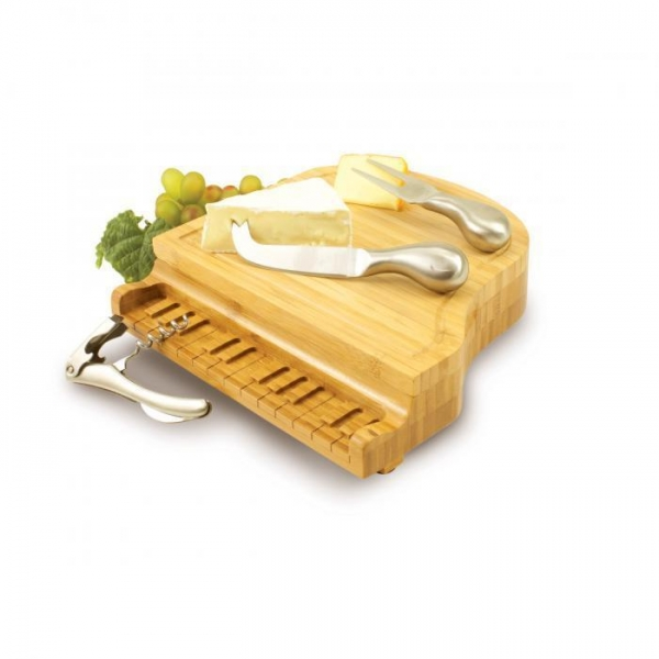 Quality Picnic Time Piano Shaped Cheese Board for sale
