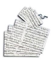 Buy cheap New & Noteworthy Mozart Music Note Gift Wrap - White or Black product