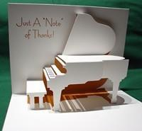 Buy cheap New & Noteworthy Grand Piano Pop-Up Card (Thank You Card) product
