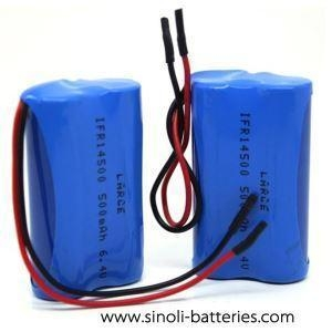 Quality 6.4 Volt 500mah Lifepo4 Battery Pack Rechargeable Light Use for sale