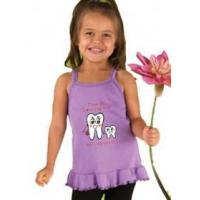 """Buy cheap Children's Clothing Toddler """"I Love My Hygienist"""" Ruffle Tee product"""