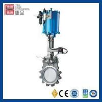 China Ductile Iron OS&Y Lug Knife Gate Valve with Pneumatic Actuator on sale