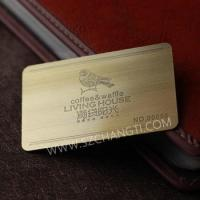 Buy cheap Stainless steel metal business cards / Character cards /Bronze cards from wholesalers