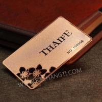 Buy cheap Stainless steel metal card/frosted surface Rose gold cards from wholesalers