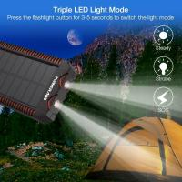 Buy cheap Poweradd Waterproof Solar Power Bank 12000mAh For Camping , Hiking from wholesalers