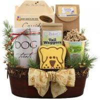 China Holiday Sophisticated Dog Gift Basket on sale