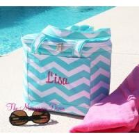 Buy cheap Monogrammed Chevron Print Insulated Cooler Tote Bag product