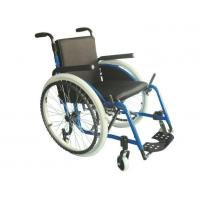 Buy cheap Aluminium Alloy Travel Folding Airport Wheelchair from wholesalers