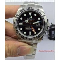 Buy cheap High Quality Noob Replica Rolex Explorer II 216570 42mm Watch Black Dial product