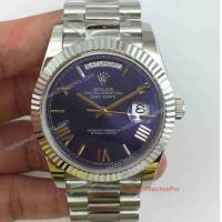 Buy cheap Copy Rolex Day-Date 40mm SS Blue Oyster Perpetual Mens Watch product