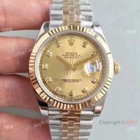 Buy cheap New 2017 Copy Rolex Datejust 41mm Watch 2-Tone Gold Face Diamond Markers product