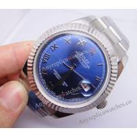 Buy cheap Knockoff Rolex Datejust II SS Fluted Bezel Blue Roman Face Gift Watch product