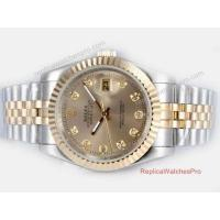 Buy cheap Copy Rolex Datejust Watch 2-Tone Jubilee Gold Diamond product