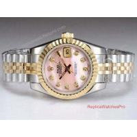 Buy cheap Copy Rolex Datejust Watch 2-Tone Jubilee Pink MOP Dial Ladies watch product