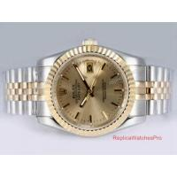 Buy cheap Copy Rolex Datejust Watch 2-Tone Jubilee Gold Face Mens Watch product