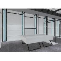 Buy cheap Simple Nice Men Clothing Display Case / Apparel Store Fixtures Glossy White Color product