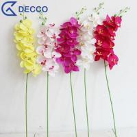 Buy cheap Artificial flower 9 Heads PU Phalaenopsis Orchid product