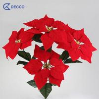 Buy cheap Artificial flower Silk Poinsettia from wholesalers