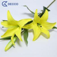 Buy cheap Artificial flower 3 Heads PU Lily from wholesalers
