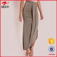 Slinky Maxi Skirt Taupe Long Pencil Skirt Wholesale